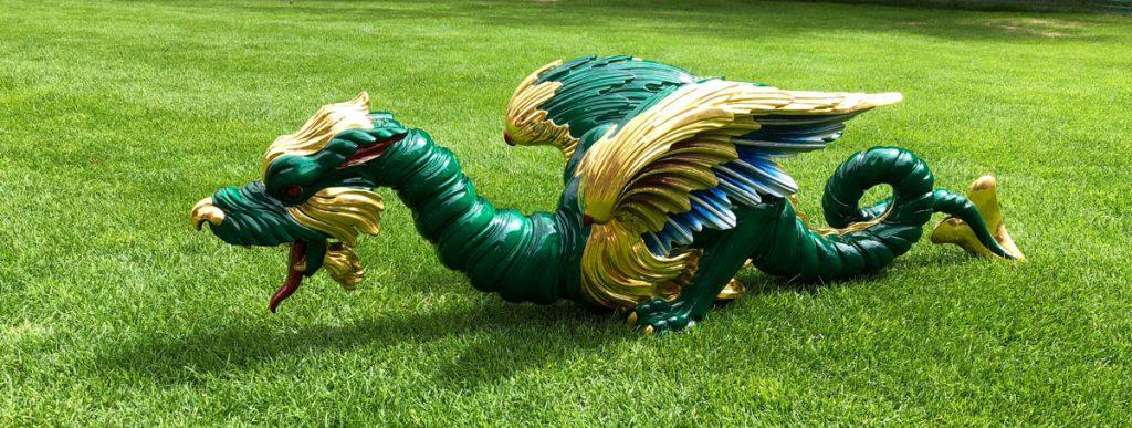 pagode drachen kew gardens 1024x387 - Kew Gardens: 3D-gedruckte Drachen für historisches Gebäude