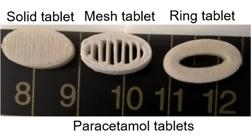 3D Druck von Paracetamol Tabletten mit definierten Freisetzungsprofilen4 - 3D-Druck von Paracetamol-Tabletten mit definierten Freisetzungsprofilen