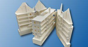 Hallenhaus 300x160 - 3D-gedrucktes Modell eines Hallenhauses in Görlitz