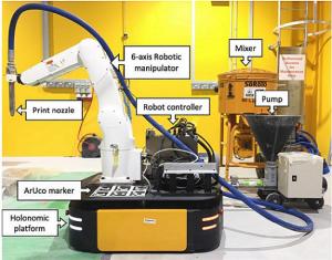 Mobile Roboter für Betondruck