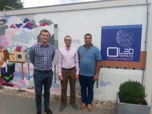 Dr.-Ing. Tobias Redlich, Dr. Helmi Ben Rejeb (ENIT), Anis Ben Amor (AGYA) (von links nach rechts) (Quelle: HSU)