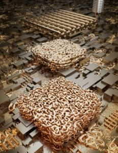 Nanoporöses Gold 232x300 - 3D-Druck von nanoporösem Gold könnte die elektrochemische Stoffumwandlung revolutionieren