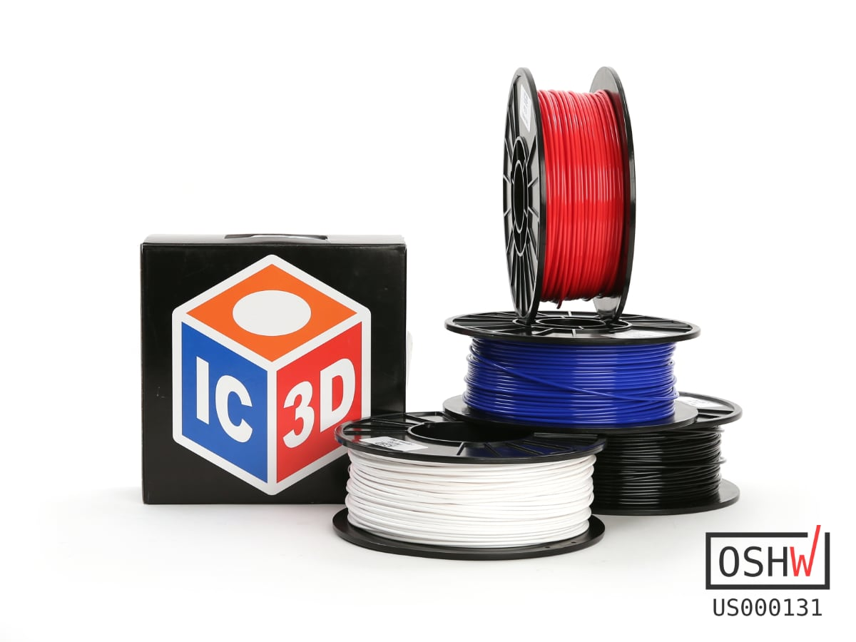 IC3D PETg Zertifiziertes Open Source Filament Von Aleph Objects Und IC3D