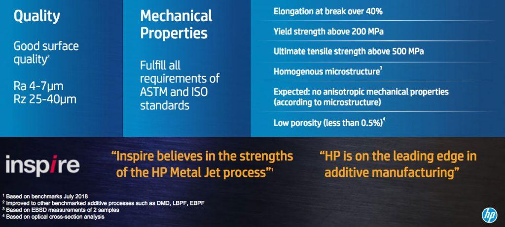 HP Metal Jet Eigenschaften