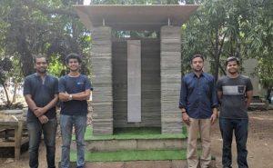 IIT Madras Facutly 3d gedrucktes Haus 300x185 - Indian Institute of Technology Madras entwickelt 3D-gedruckte Häuser, für deren Bau drei Tage benötigt werden