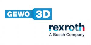 LOGO GEWO BOSCH REXROTH 300x150 - Bosch Rexroth und GEWO 3D kündigen Entwicklungspartnerschaft an