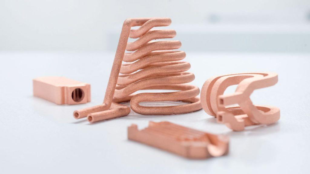 3D-gedruckte Bauteile aus Reinkupfer (Foto: Trumpf)
