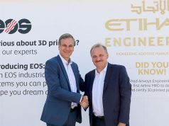 Markus Glasser, Senior Vice President Export Region bei EOS and Bernhard Randerath, Vice President Design, Engineering and Innovation bei Etihad Airways Engineering. (Quelle: EOS)