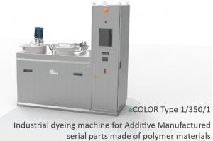 maschineEcolor CIPRES 300x199 - CIPRES präsentieren auf der Formnext 2018 eine industrielle Färbemaschine eCOLOR Type 1/350/1 für additiv gefertigte Bauteile aus Polyamid.