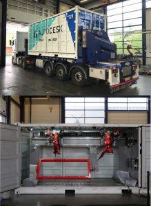 Autodesk Roboter 219x300 - mit Robotern gefüllter Versandbehälter bringt Fertigungstechnologie auf die Baustelle