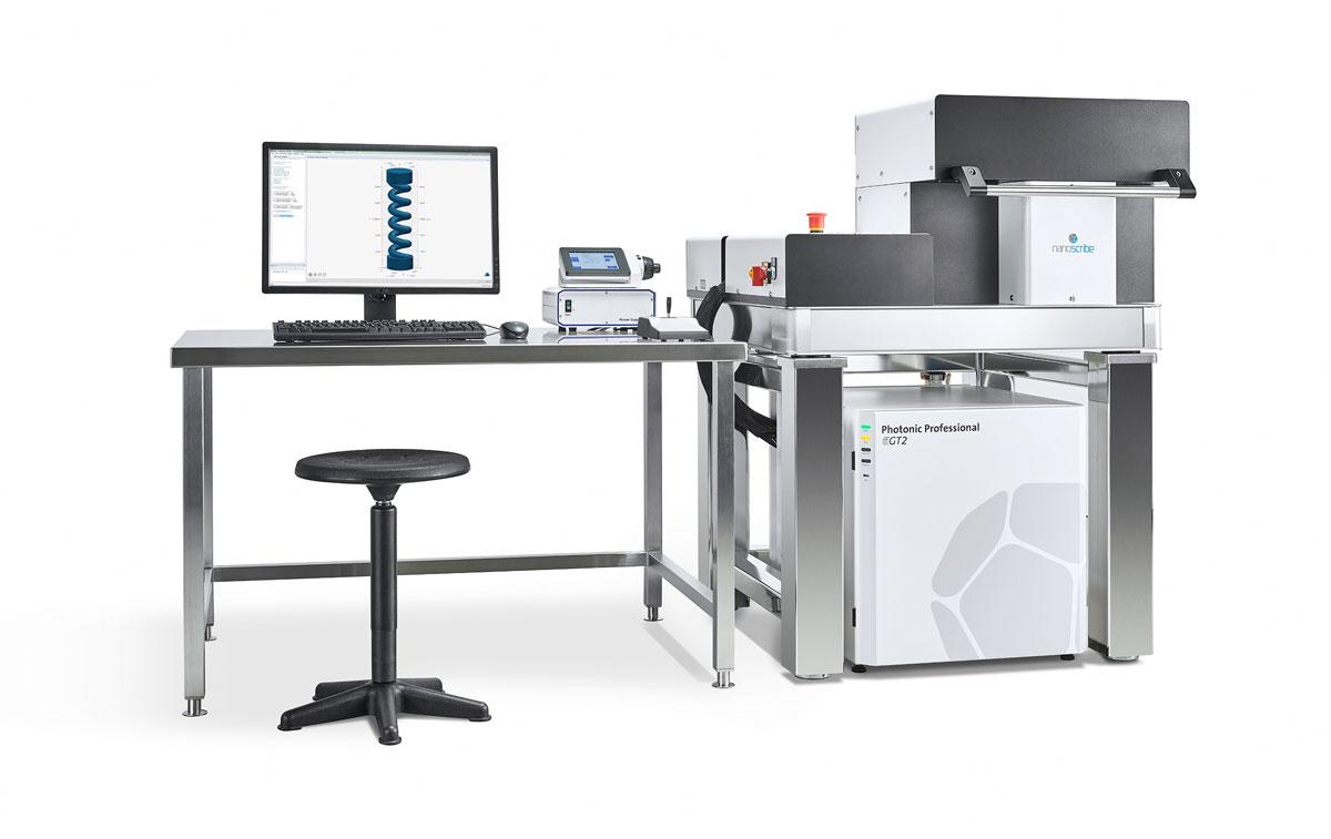 Der neue 3D-Drucker Photonic Professional GT2 ermöglicht die Herstellung größerer Strukturen mit höchster Präzision in kürzerer Zeit.