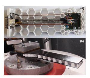 Testaufbau f%C3%BCr Vibrationstestung 300x259 - Forscher untersuchen die Anwendbarkeit des 3D-Drucks für die Massenproduktion von Satelliten