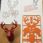 Weihnachten 2018 RentierKarte 150x150 - 5 kostenlose 3D-Druck Modelle für Weihnachten
