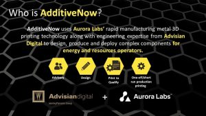 additivenow 300x169 - Aurora Labs und WorleyParsons starten 3D-Metall-Druck Joint Venture
