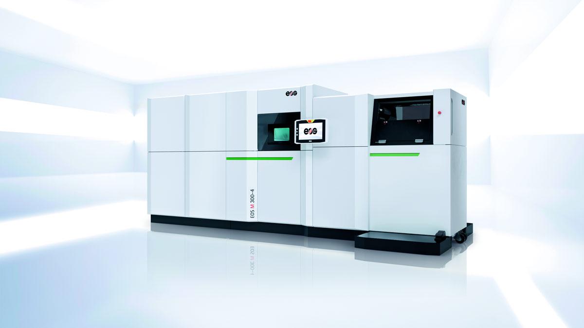 EOS M 300-4 Serie für die digitale Produktion mittels Additiver Fertigung (Quelle: EOS)