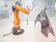 Moderne Qualitätssicherung anschaulich gemacht: Artec Eva auf einem Roboterarm von KUKA, Quelle: TMW/APA/Juhasz