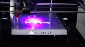 Bild des 3D-Druckers von Aether der für die Forschung / Versuche eingesetzt wird