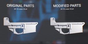 modifizierte Waffen stl Dateien 300x150 - Dagoma und Tbwa Kampagne zur Verhinderung des 3D-Drucks von Waffen
