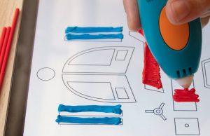 Die mobile App von 3Doodler ist wie ein Malbuch für den 3D-Druck