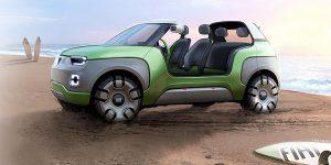 fiat konzept 300x150 - Modulares Elektroauto von Fiat mit 3D-gedruckten Komponenten