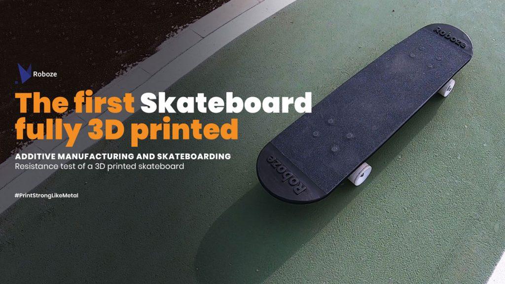 3D-gedrucktes Skateboard