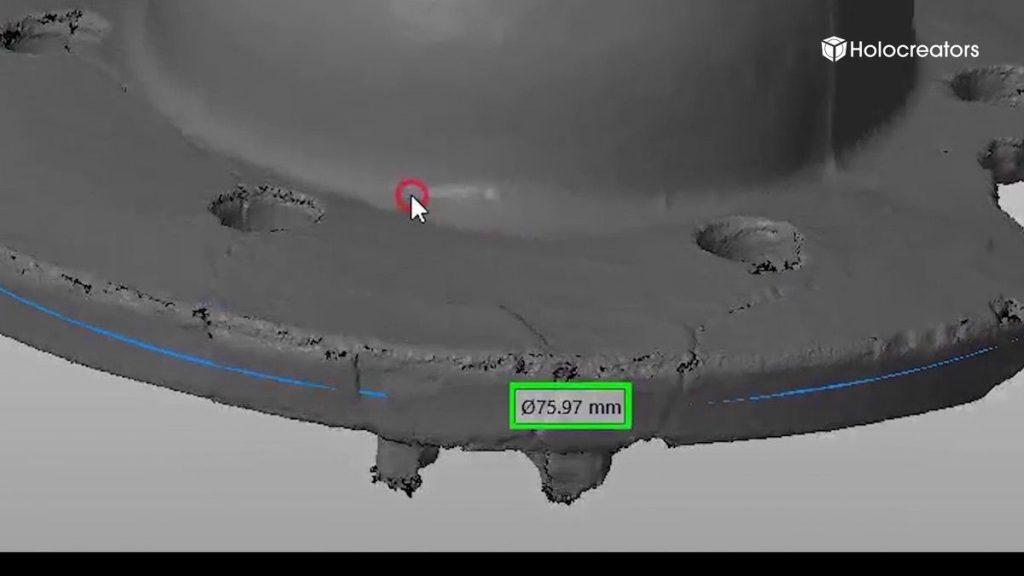In unserem Beispiel ist der Aussendurchmesser 75,97 mm. Wir runden das Ergebnis auf 76 mm auf.