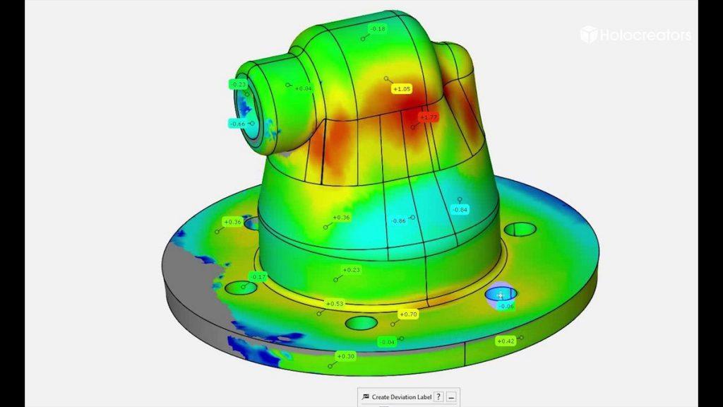 Für den Soll/Ist Vergleich haben wir die ebenfalls kostenlose Software GOM Inspect verwendet.