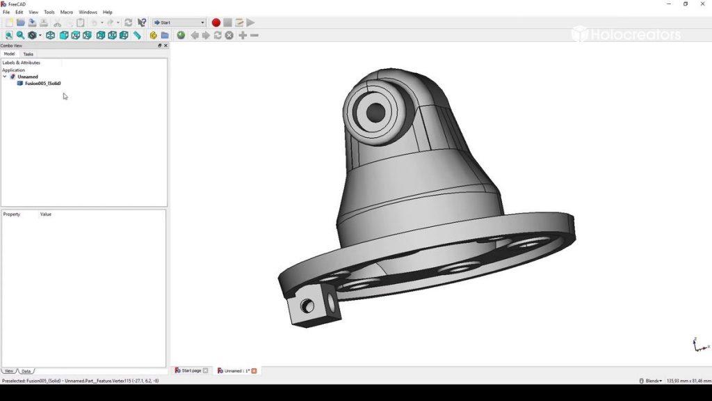Als Ergebnis erhält man das fertige Bauteil. Es ist ein Volumenmodell, das sich auch in anderen CAD Programmen verändern lässt.