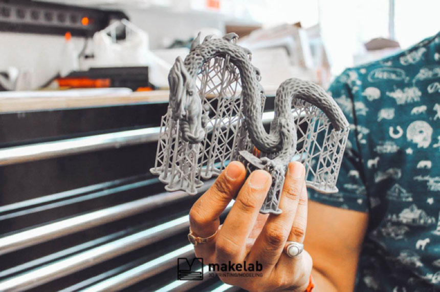 Makelab arbeitet an einer großen Zahl an Projekten und schlägt Kunden die 3D-Drucktechnologie vor, die Sinn für sie macht.