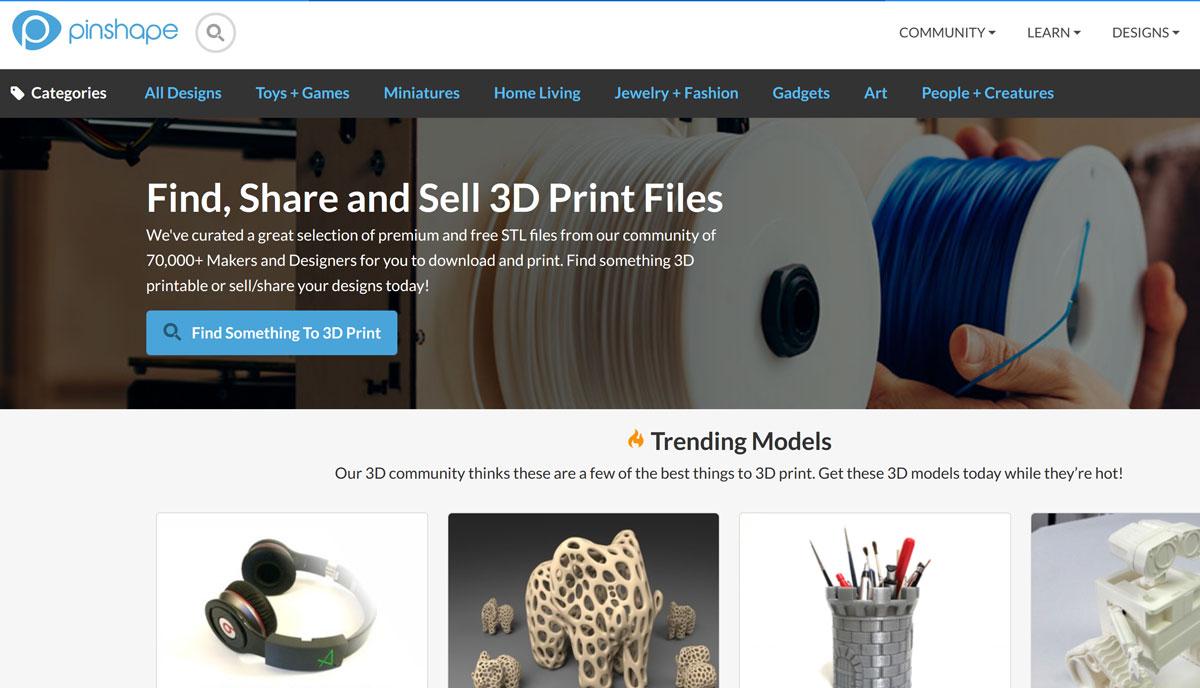 Pinshape 3D-Druck Vorlagen